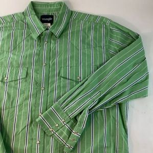 Wrangler Mens Pearl Snap Western Shirt XL